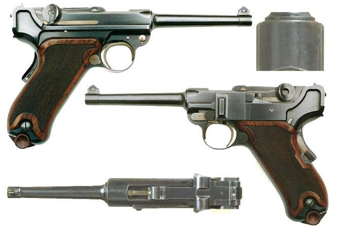 Borchardt Luger Swiss trials 1899