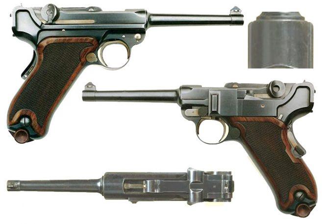 Borchardt Luger Swiss trials 1899