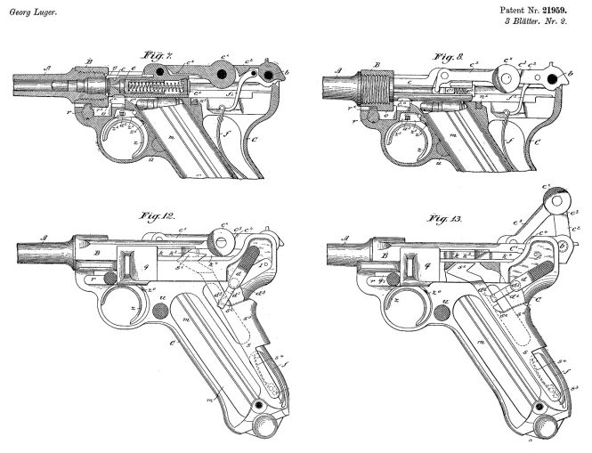 Swiss patent Georg Luger no.21959 May 5nd 1900