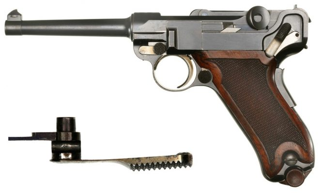 Borchardt Luger pistol safety levers had