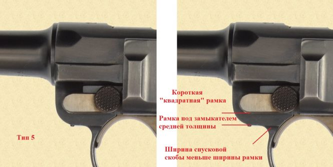 Long and short frame profiles Luger variations