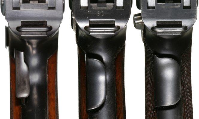 Luger variations Grip safety lever
