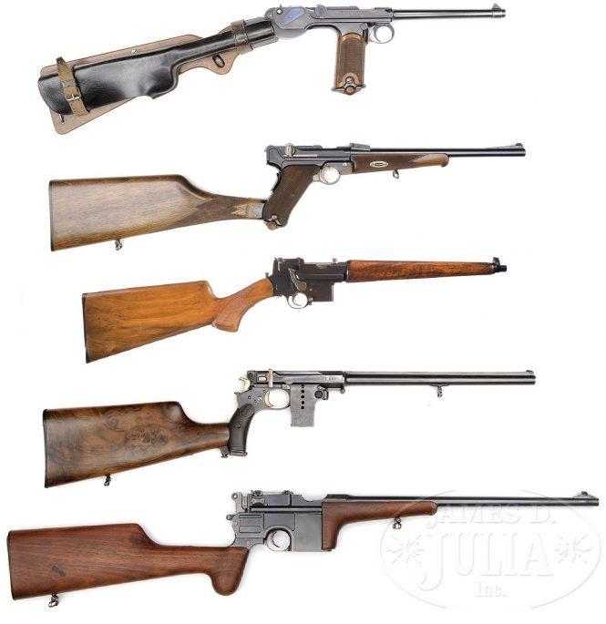 Pistol - Carbine BorchardtC93, Parabellum, Mannlicher, Bergmann, Mauser C96