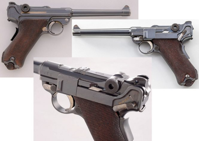 Navy Luger Pistol 1906 First Issue modified