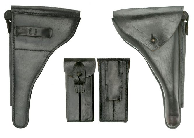 First pattern holster and two-magazine pouch