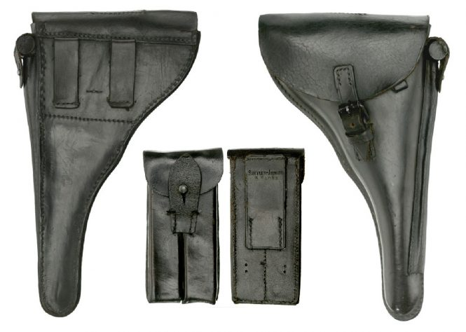 Second pattern holster and two-magazine pouch