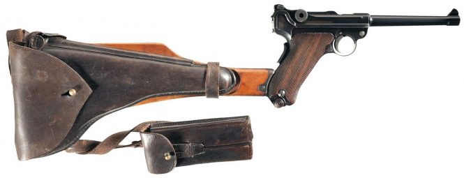 Navy Luger Pistol with stock and holster