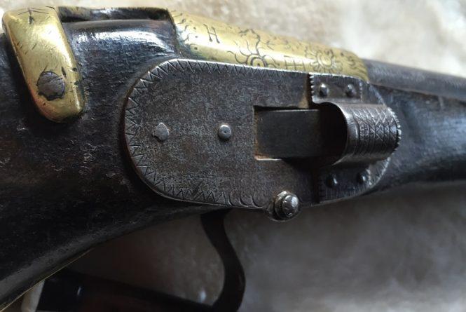 Ceylon automatic pan-cover matchlock pistol