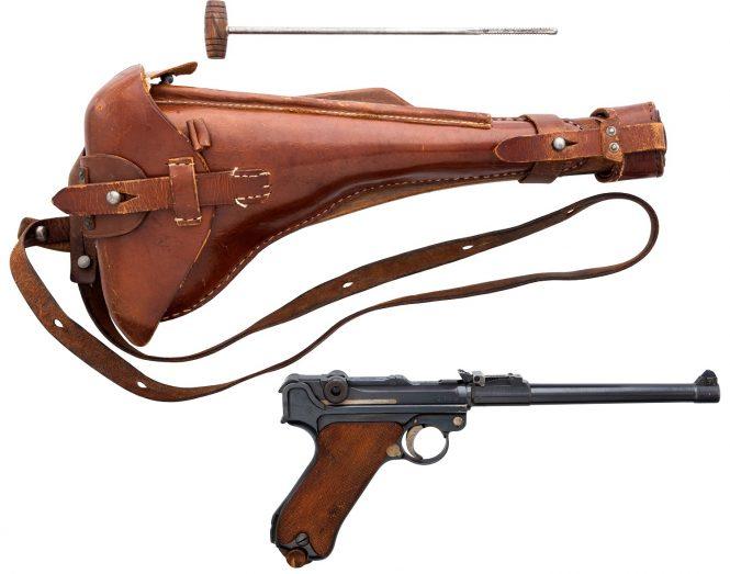 Luger Lange Pistole 08 wooden shoulder Stock and Holster