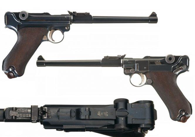 DWM Double Date 1920/1917 Dated Artillery Luger