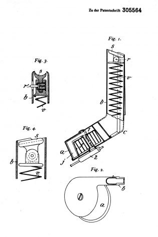 Blum's patents DRP 305 564 8 July 1916 drum magazine design to the lP.08