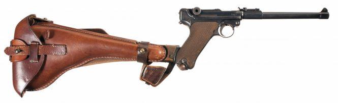 LP.08 Luger Artillery wooden shoulder Stock and Holster