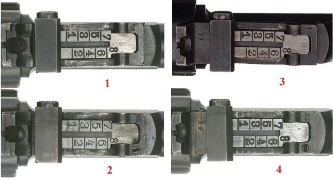 LP.08 Luger Artillery variants rear sight