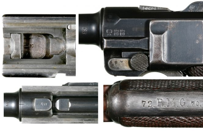 First Parabellum pistols issued by the German Army in 1907,