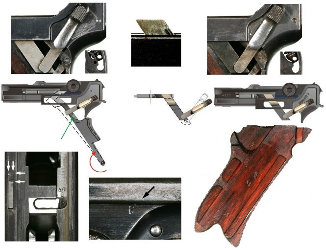 The conversion of the safety Parabellum pistols