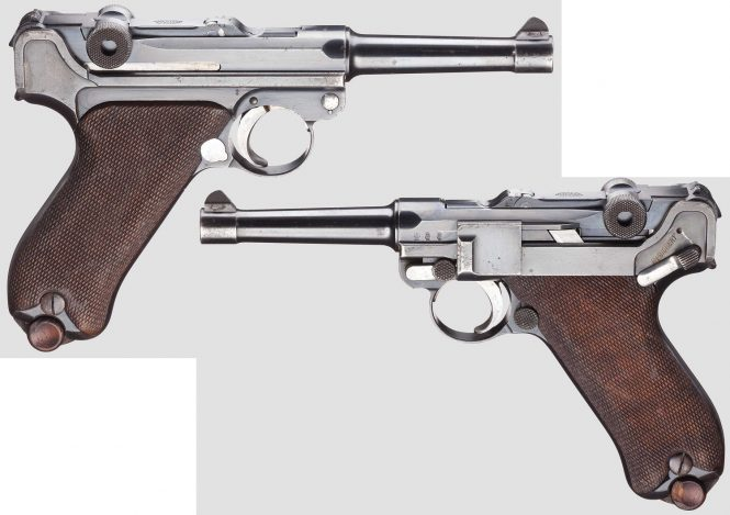 First Issue Model 1908 DWM Military contract Luger pistol