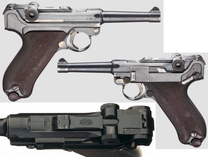 DWM Model 1908 Military Luger, Dated 1910