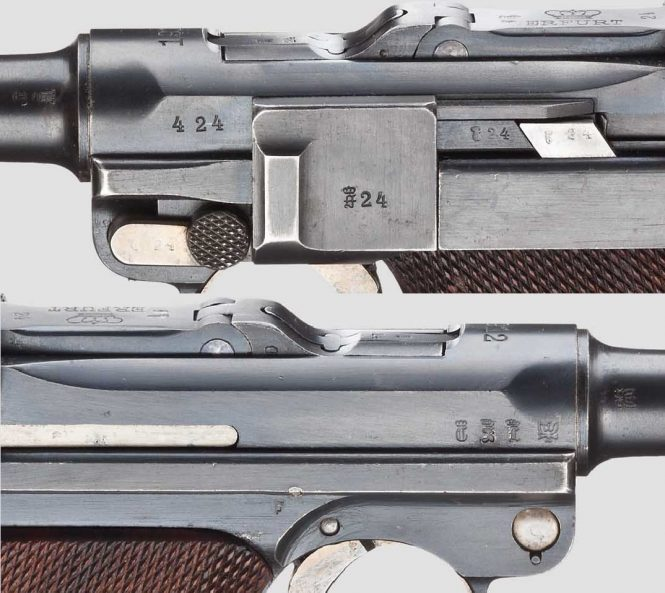 Erfurt Model 1908 Military Luger, Dated 1912