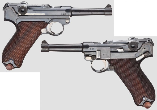 Pistol 08 Parabellum, Erfurt 1912