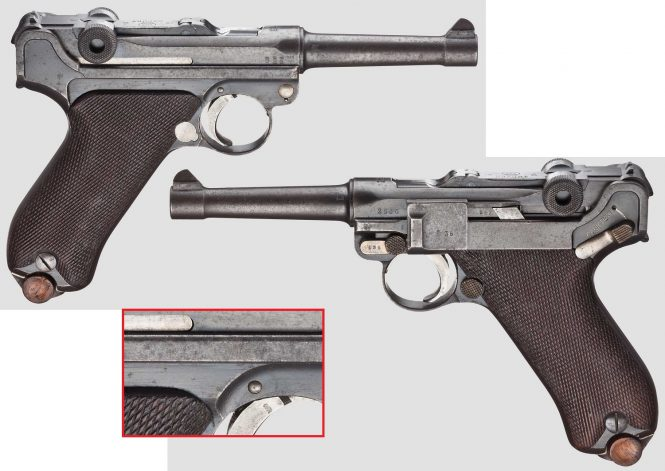 Erfurt Model 1908 Military Luger, Dated 1913