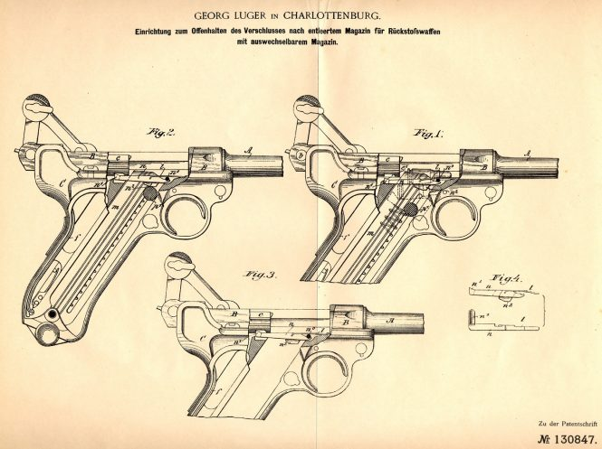 Luger's German patent DRP 130 847 of 6 May 1900