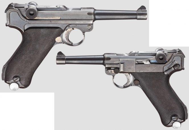 """Pistol 08, Mauser, code """"K - S/42"""", 4th variant"""