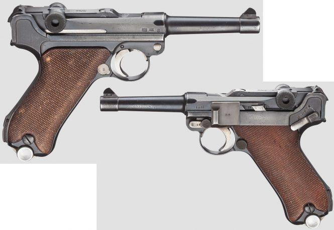 """Pistol 08, Mauser, code """"K - S/42"""", 3rd variant"""
