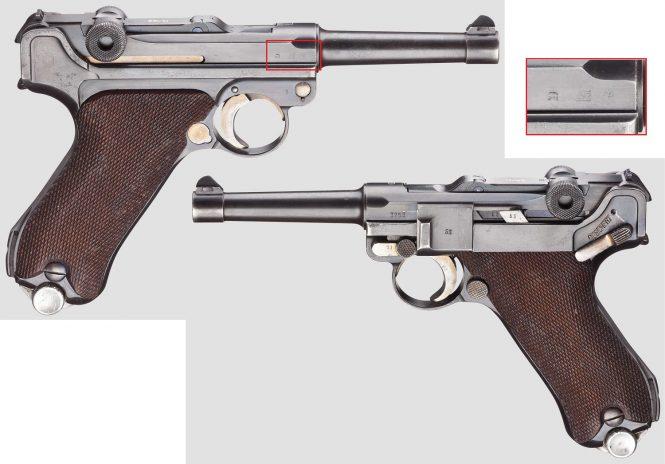 """Pistol 08, Mauser, code """"G - S/42"""", 2nd variant"""