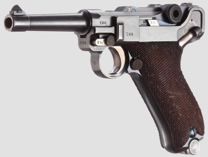 """Pistol 08, Mauser, code """"K - S/42"""", 2nd variant"""