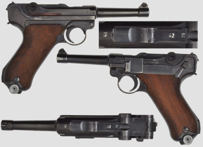 Mauser Lugers 41-42 Military contract