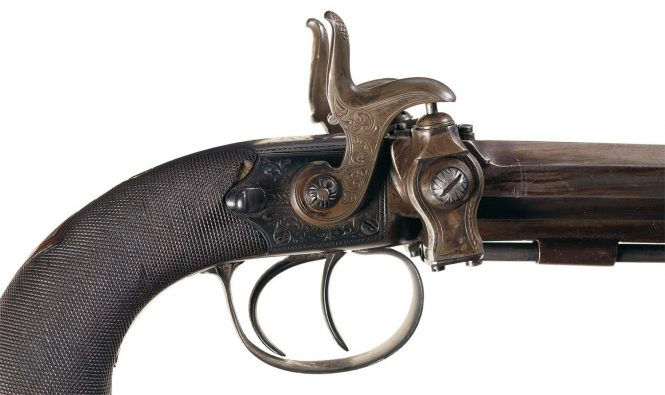 Forsyth Scent Bottle Double Barrel Pistol
