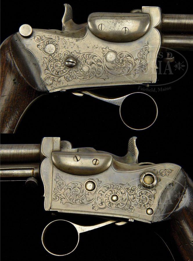 Marius-Berger pistol engraved