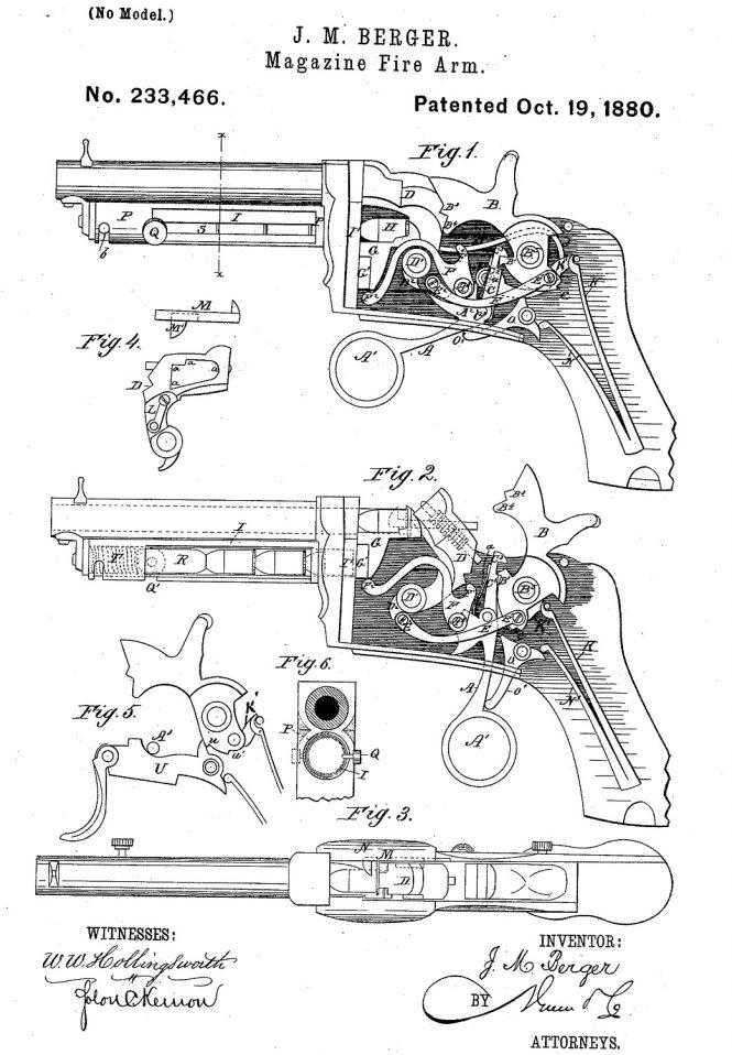 Marius-Berger pistol Patent
