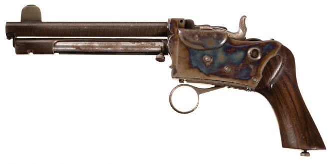 Breech-loading pistol by Marius Berger