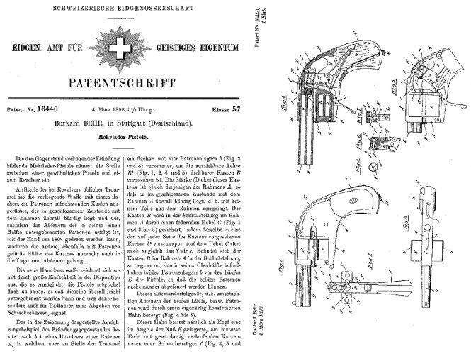 Patent Bar Pistol