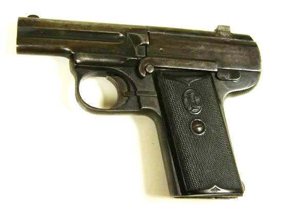 """Pieper Pistol """"Demontant"""""""