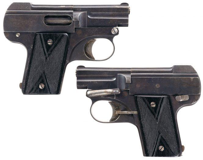 Nicolas Pieper Pistol model 1908 Demontant