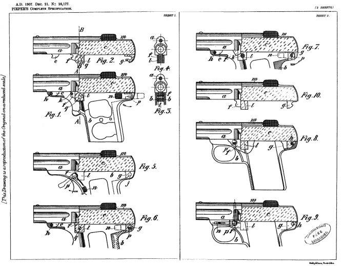Nicolas Pieper patent A.D.1907 Dec 21 №28177