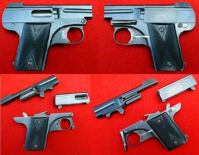 "Pieper Pistol A/d model ""Demontant"""