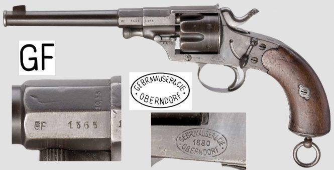 Reichsrevolver M1879 produced by Gebrüder Mauser & Cie