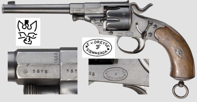 Reichsrevolver M1879 produced by Franz V. Dreyse