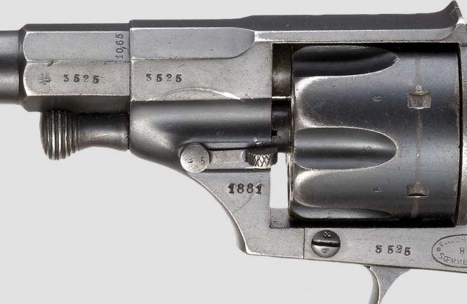 Reichsrevolver M1879 marked