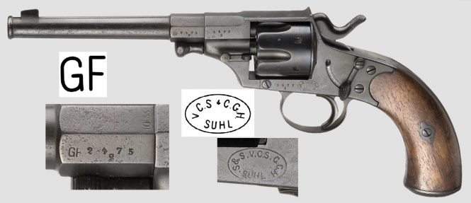 Reichsrevolver M1879 produced by Suhl consortium