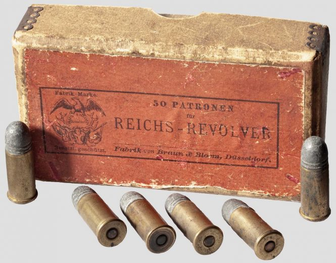 Cartridge 10.6 x 57 R caliber