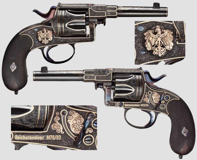 Reichsrevolver M1883 engraved