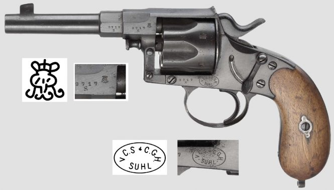 Reichsrevolver M1883 produced by Suhl consortium