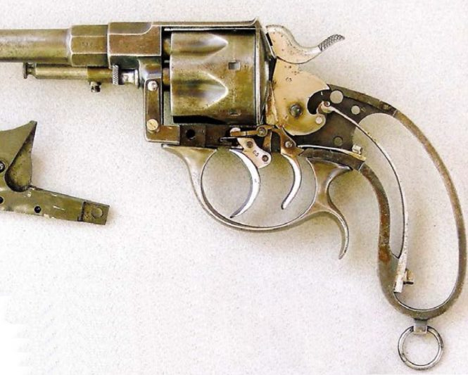 Officer's Reichsrevolver M1883 with double trigger (triple-action mechanism) and ejector
