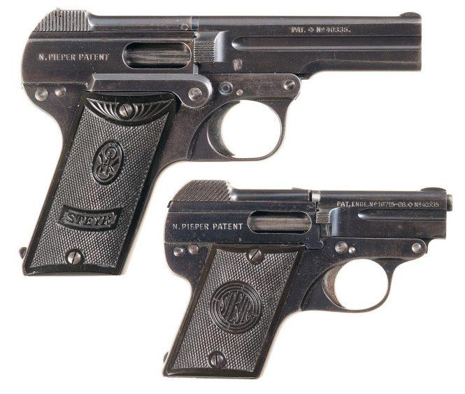 Steyr-Pieper Pistols