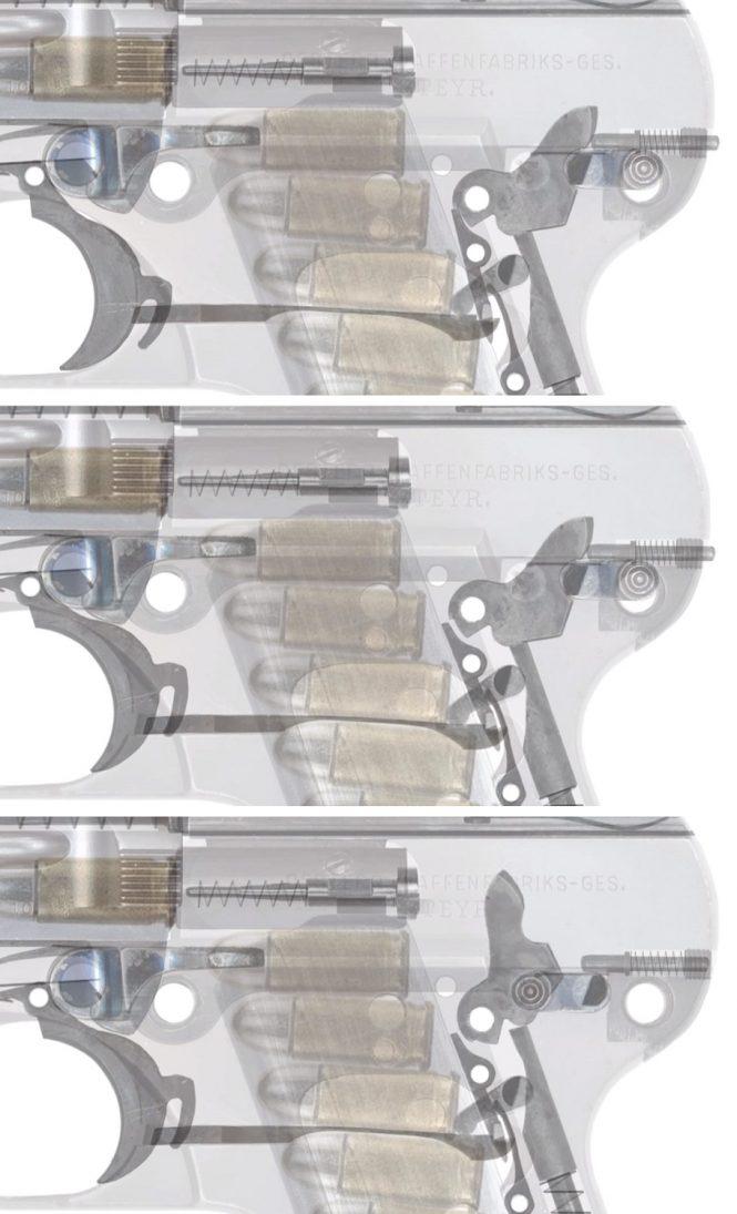 Safety Steyr-Pieper Pistol 1908