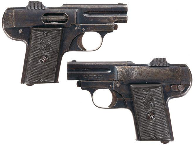 Spanish Boltun Patent Semi-Automatic Pistol